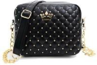 OGO Girls Black PU Sling Bag
