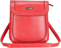 Lavie Women Casual Red Leatherette Sling Bag