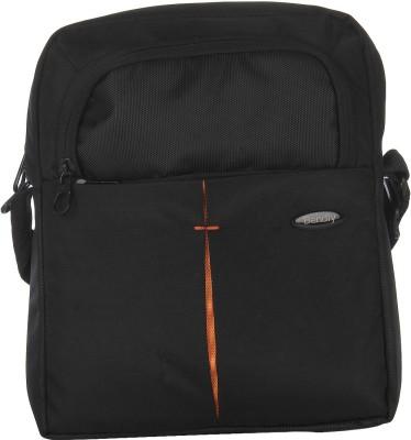 Bendly Men Casual Black Polyester Sling Bag