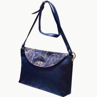 Jeane Sophie Women Evening/Party Blue Genuine Leather Sling Bag