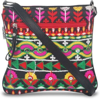 pickpocket Women Multicolor Canvas Sling Bag