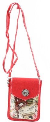 Bagathon India Girls Red Canvas Sling Bag