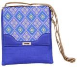 Sunbeams Women Blue Silk Sling Bag