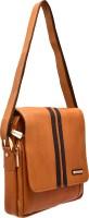 JFL - Jewellery for Less Women Tan Genuine Leather Sling Bag