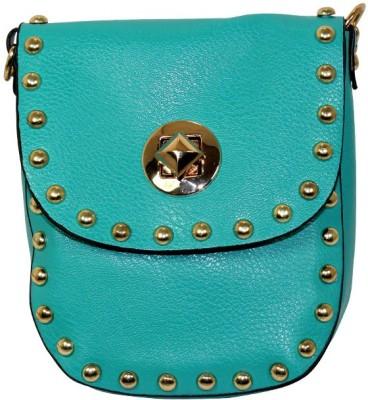Gift Island Girls Blue Leatherette Sling Bag