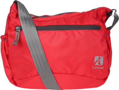 Layout Men, Women, Boys, Girls Casual Red Polyester Sling Bag
