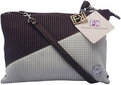 Fashion Knockout Women Casual White PU Sling Bag