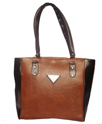 WEEBILL Women Tan, Black PU Shoulder Bag
