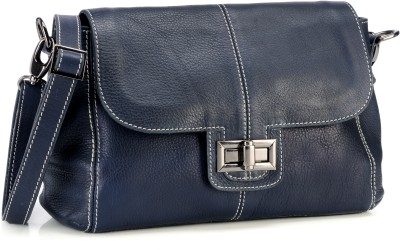 Phive Rivers Women Casual Black Genuine Leather Sling Bag