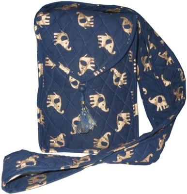 Needlecrest Women, Girls Casual Blue Cotton Sling Bag