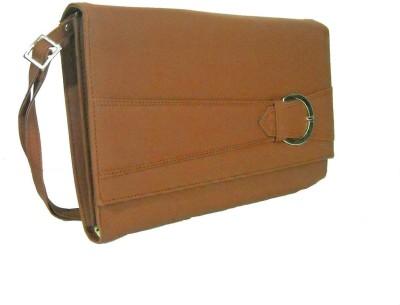 Estoss Women Brown Genuine Leather Sling Bag