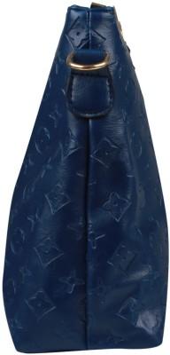 Fiza Women Blue Leatherette Shoulder Bag