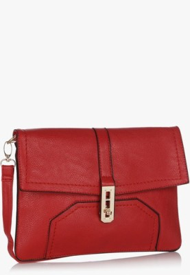 Hot Berries Women Casual Red Leatherette Sling Bag