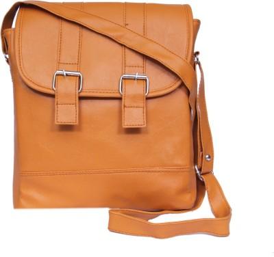 zasmina Girls, Women Brown Leatherette, PU Sling Bag