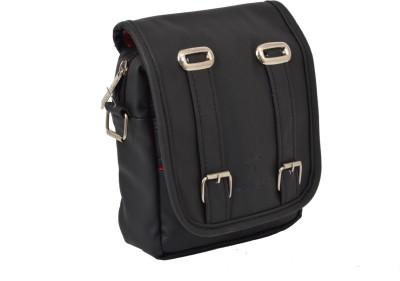 Pragmus Girls Black PU Sling Bag