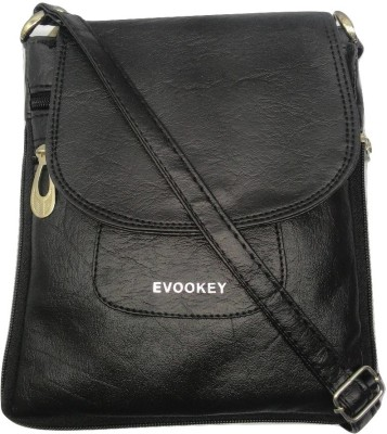 Evookey Boys, Girls, Women Black PU Sling Bag