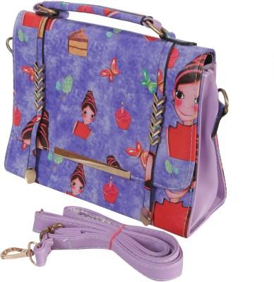Knighthood Girls Purple PU Sling Bag