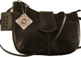 eZeeBags Women Black Genuine Leather Sli...
