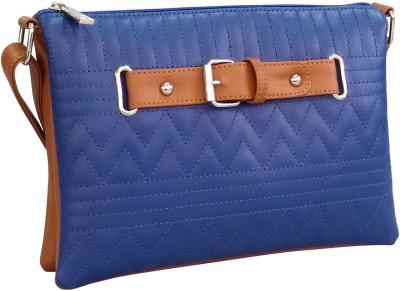 Toteteca Bag Works Women Blue PU Sling Bag