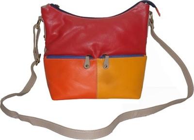 Shankar Produce Women Multicolor Genuine Leather Sling Bag