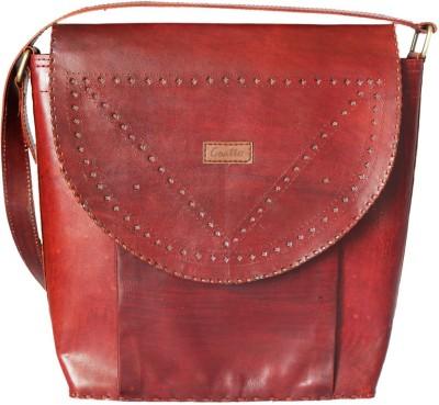 Goatter Women, Girls Red Genuine Leather Shoulder Bag
