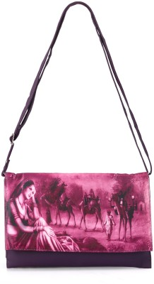 Bags Craze Women Casual Purple PU Sling Bag