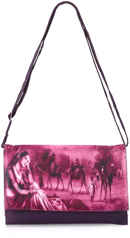 Bags Craze Women Casual Purple PU Sling Bag
