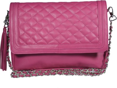 Famous by Payal Kapoor Women Pink Leatherette Sling Bag