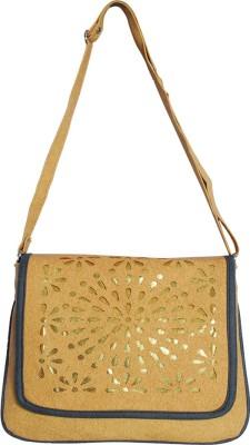 Kshipra Fashion Girls, Women Khaki, Grey Leatherette Sling Bag