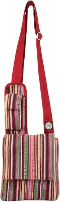 Anekaant Women Red, Multicolor Canvas Sling Bag