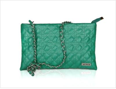 Bern Women Casual Green PU Sling Bag