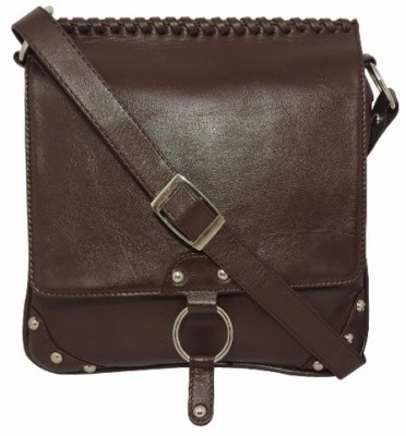 Chimera Leather Women Casual, Formal Brown Genuine Leather Sling Bag