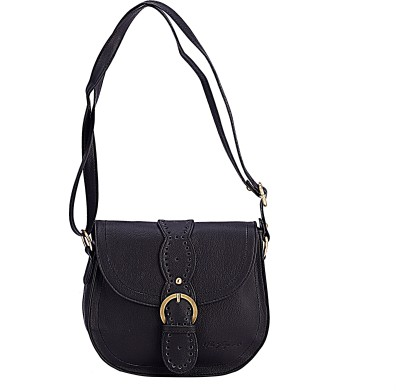 The Zoya Life Girls, Women Black PU Sling Bag