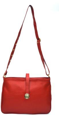 inkdice Girls, Women Red, Gold Leatherette Sling Bag