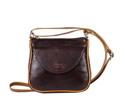 Hide Bulls Men, Women Brown Leatherette Sling Bag