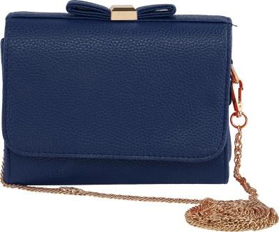 ToniQ Girls, Women Blue PU Sling Bag