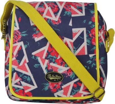 Be for Bag Women Blue Canvas Sling Bag