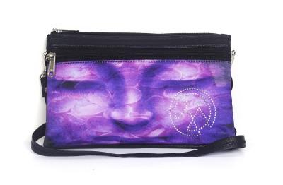 Mesmerizink Women Casual Purple PU Sling Bag