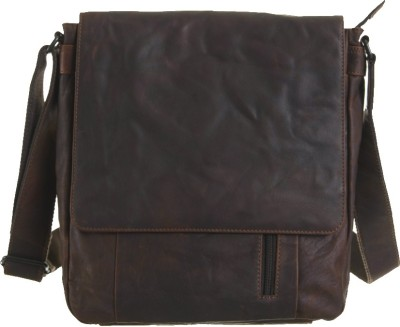 Goodwill Leather Art Boys, Men Casual, Festive, Evening/Party, Formal, Sports Brown Genuine Leather Sling Bag