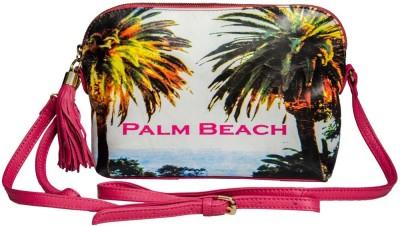 Klasse Women Casual Pink Genuine Leather Sling Bag