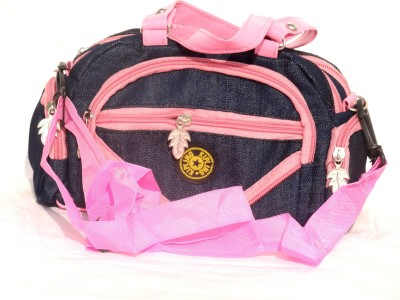 Chaklu Paklu Girls Pink Denim Sling Bag