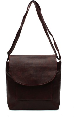 Pochette Girls, Women Brown PU Sling Bag