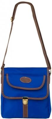 Cappuccino Women Casual Blue Nylon Sling Bag
