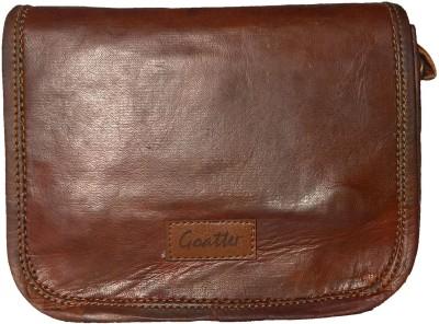 Goatter Girls Brown Genuine Leather Sling Bag