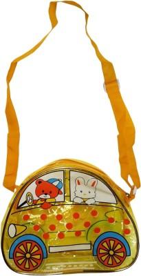 Klassik Boys, Girls Yellow Acrylic Sling Bag