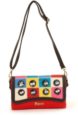 Eleegance Women Casual Red PU Sling Bag