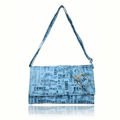 Hydes Girls, Women Blue Leatherette Satchel