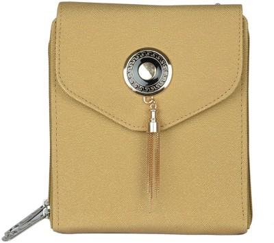 Murcia Women Gold PU Sling Bag