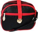 Chalissa Women Black, Red PU Sling Bag