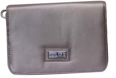 Checkmate Girls Casual Silver Genuine Leather Sling Bag
